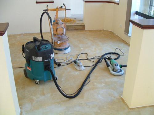 Preparing/Cleaning concrete slab