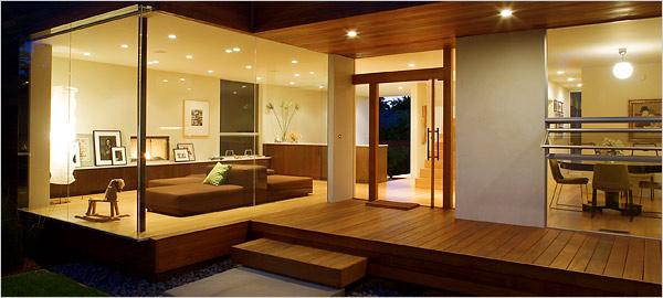 Timber lined porch/alfresco