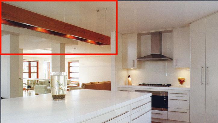 Wooden Overhead Light for Kitchen
