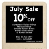 Read Article: July Sale 10% Off by I Seek Blinds NT
