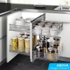 Read Article: How To Maximise Kitchen Space Utilisation - Part 1. Corner Cabinet / Magic Corner II by AROVA Hardware VIC