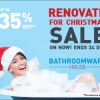 Read Article: Renovate for Christmas Sale - Up to 35% off - Ends the 24th Dec by Bathroomware House WA