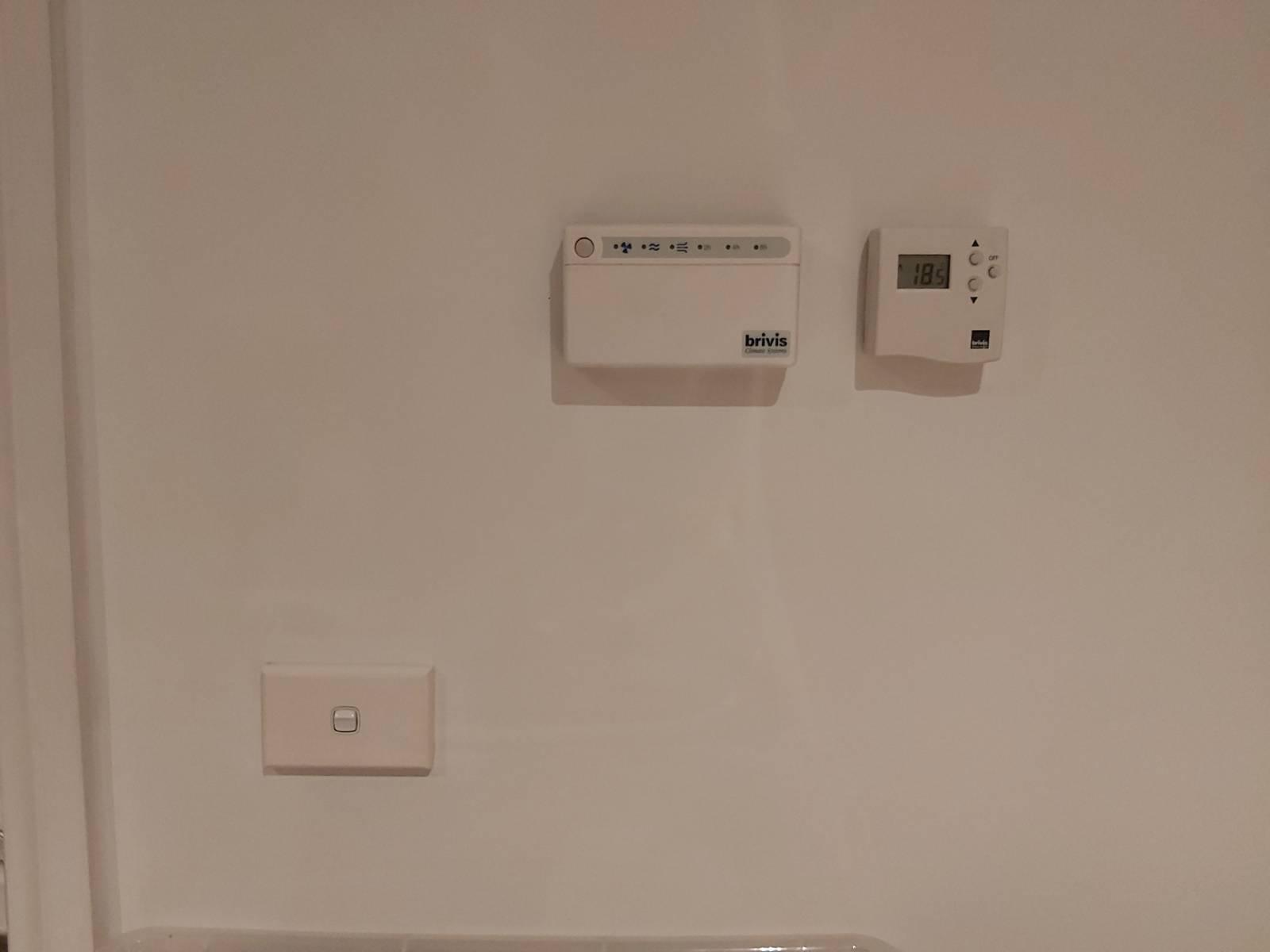 Relocating thermostat above light switch