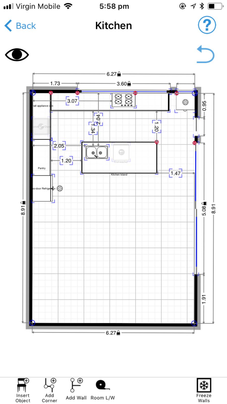 Kitchen layout plan help