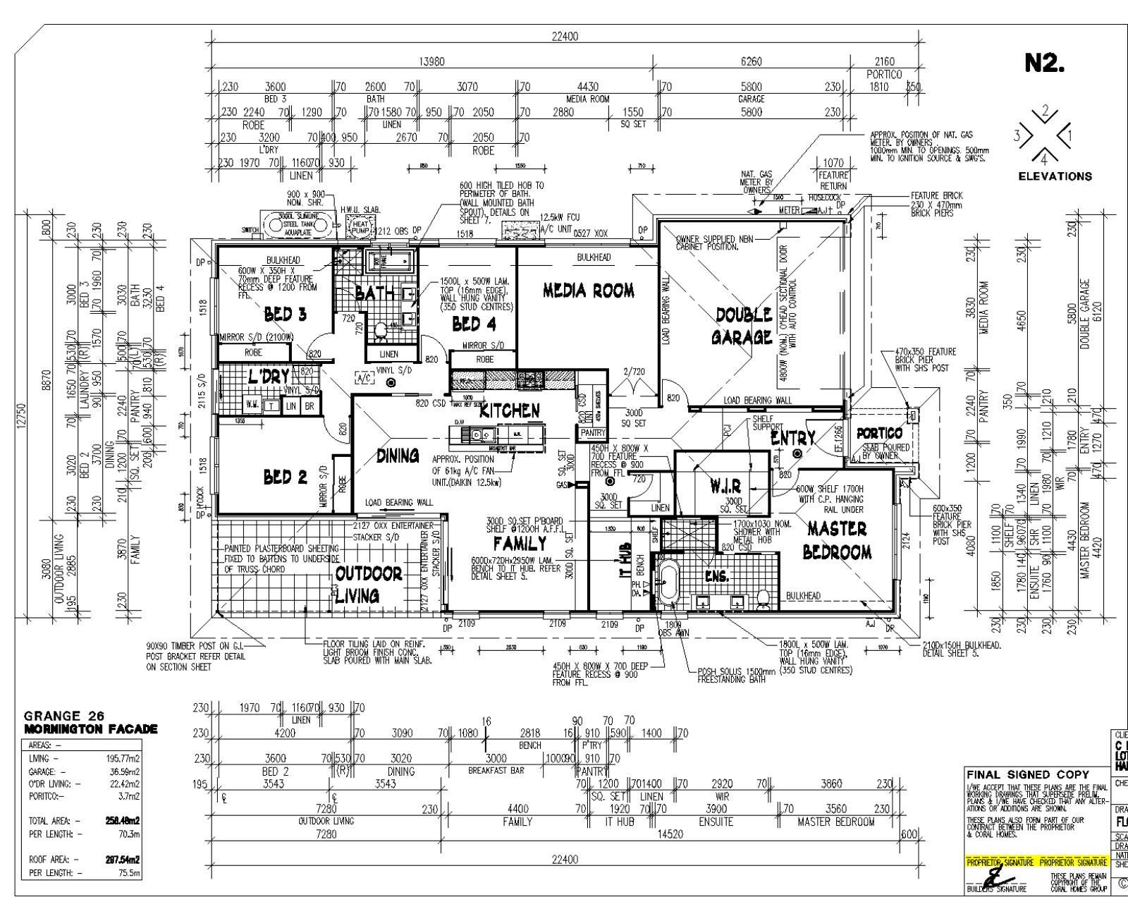 Coral Homes Grange 26 Modified - Mornington Facade - Hamlyn