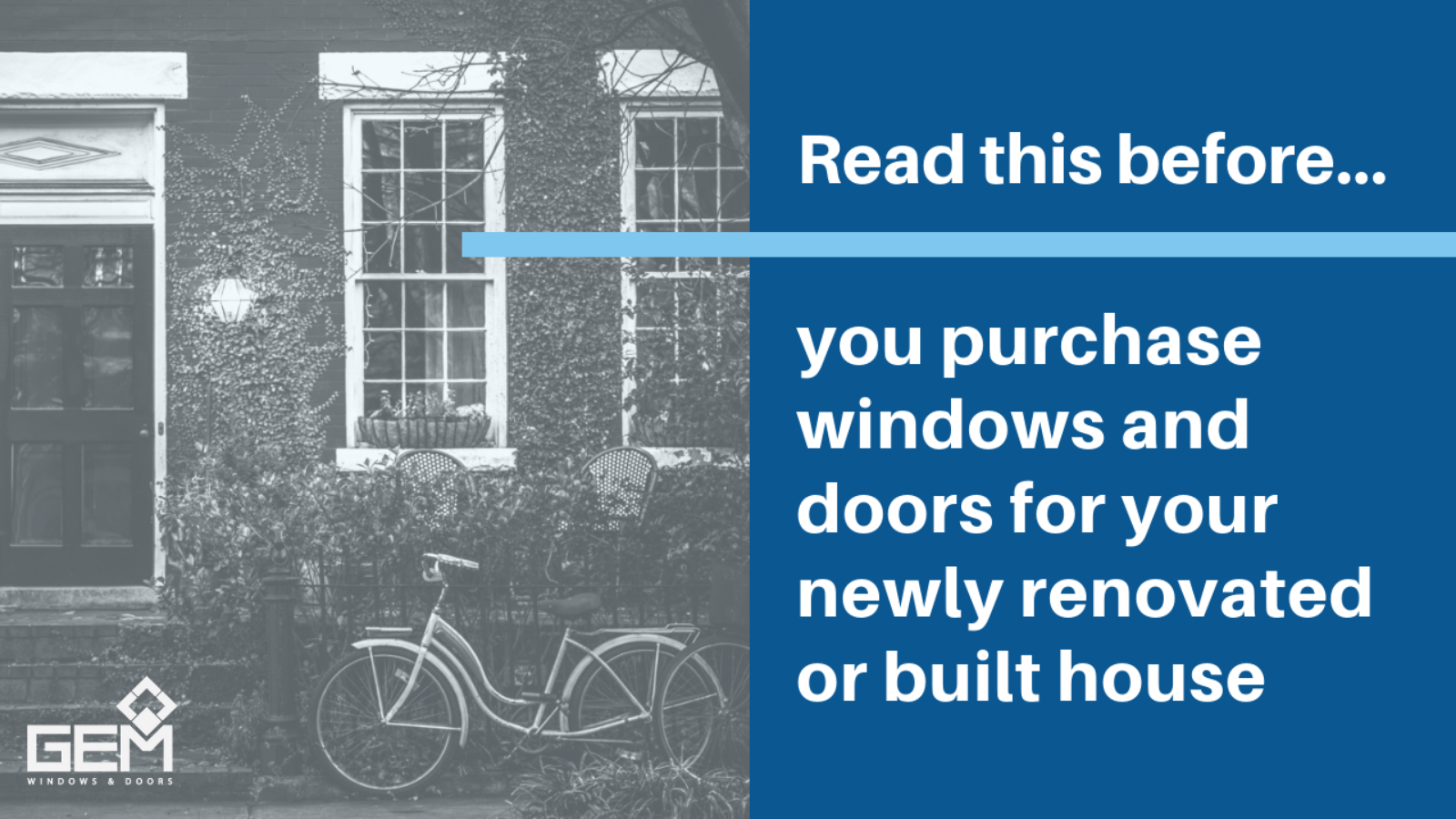 Read this before you purchase windows and doors