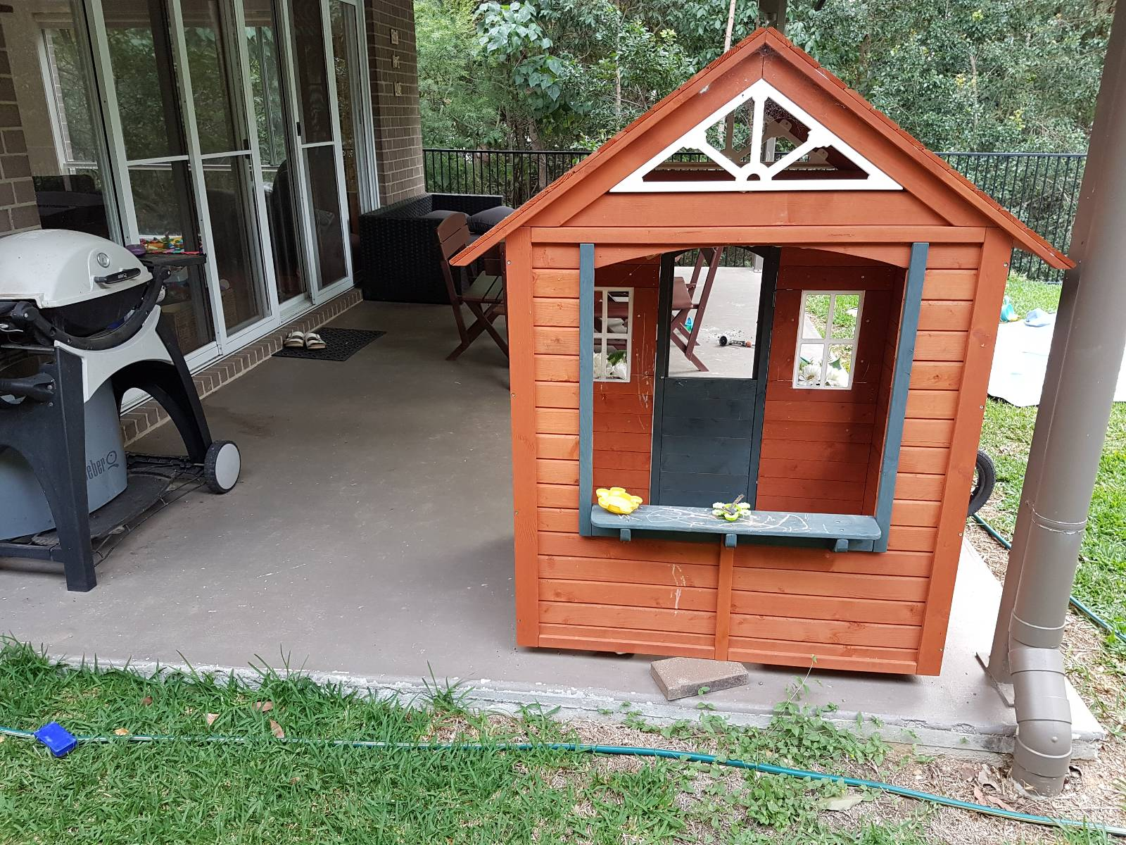 Low deck over slab (limited height & termite questions)