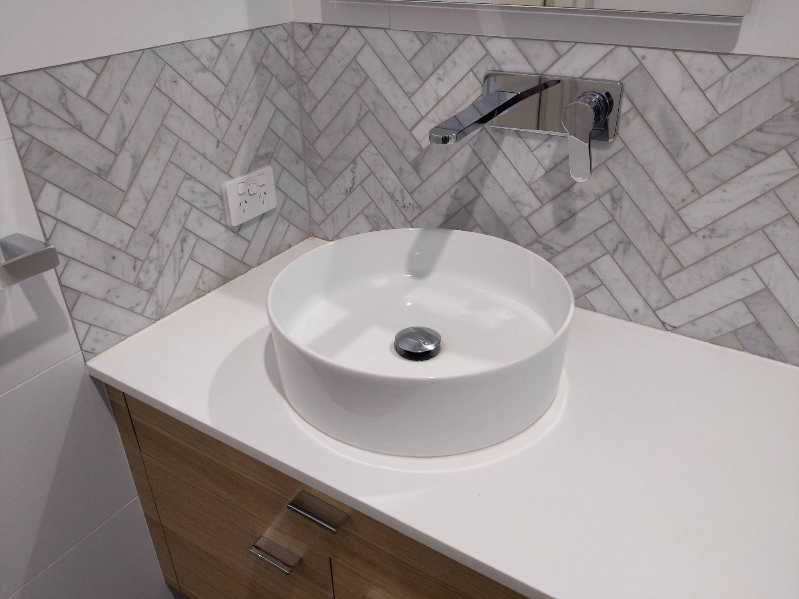 Above bench basin complications