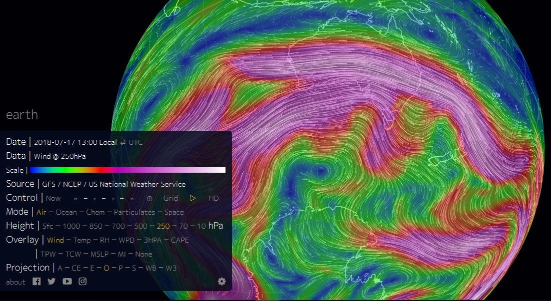 Cyclone watch and other meteorological interests.