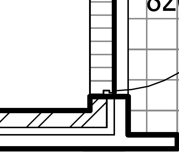 Gap between brick work and frame