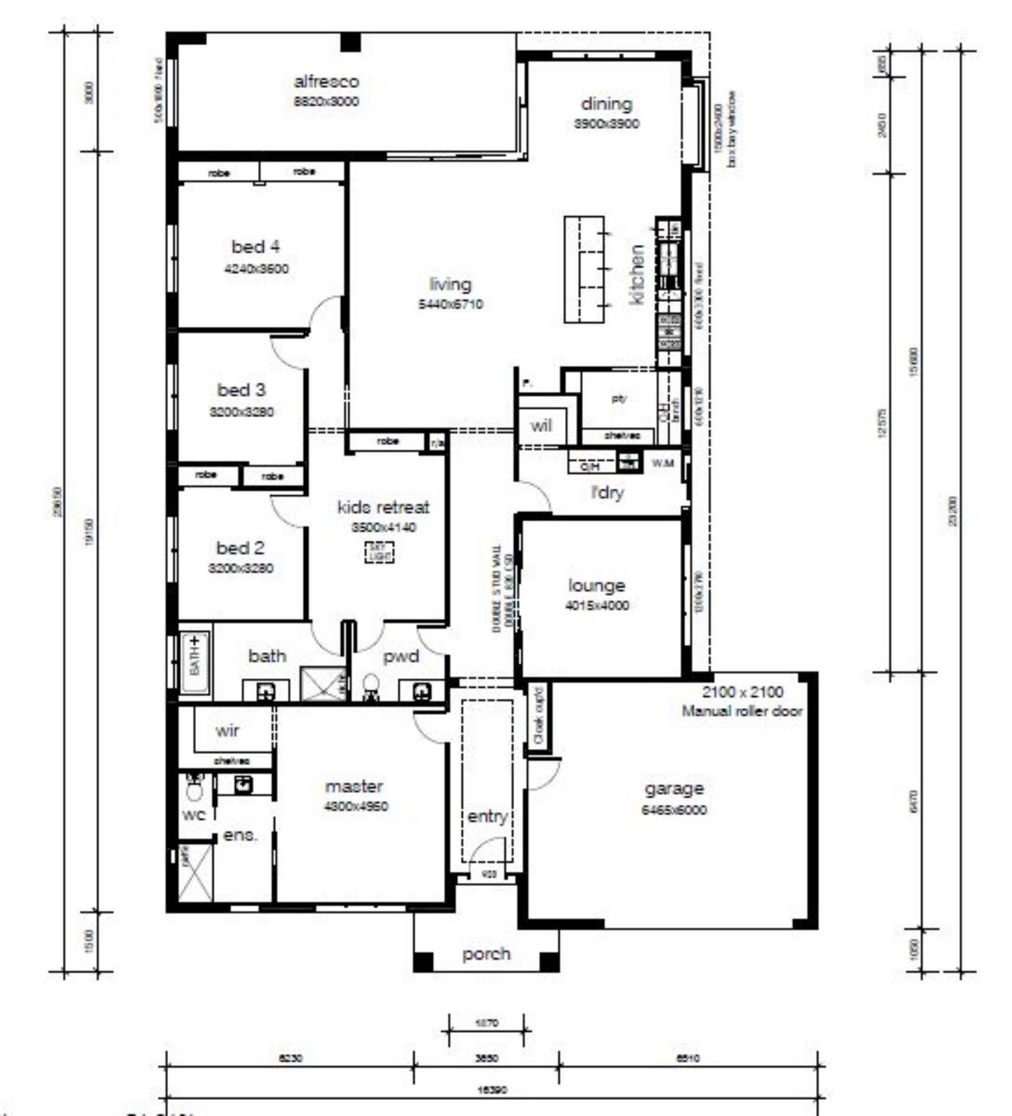 what height windows and doors for a 3 meter ceiling?