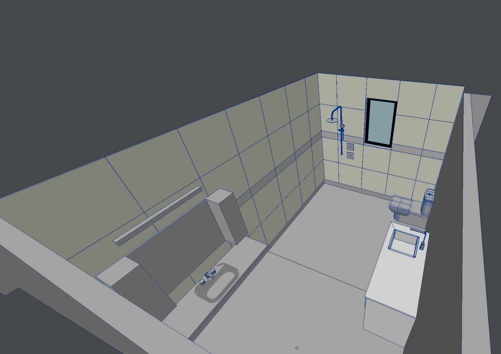 How extensive should waterproofing be for an open shower?