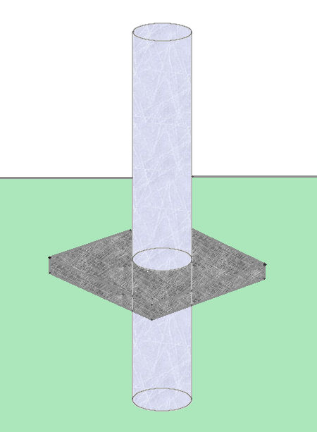 Building a concrete pillar