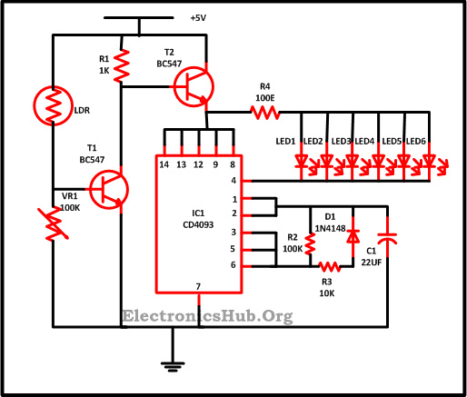View topic - Christmas Lights using LEDs Circuit Diagram • Home ...