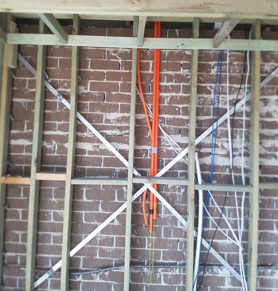 Pre wire for solar panels and Roof supporting solar panels.