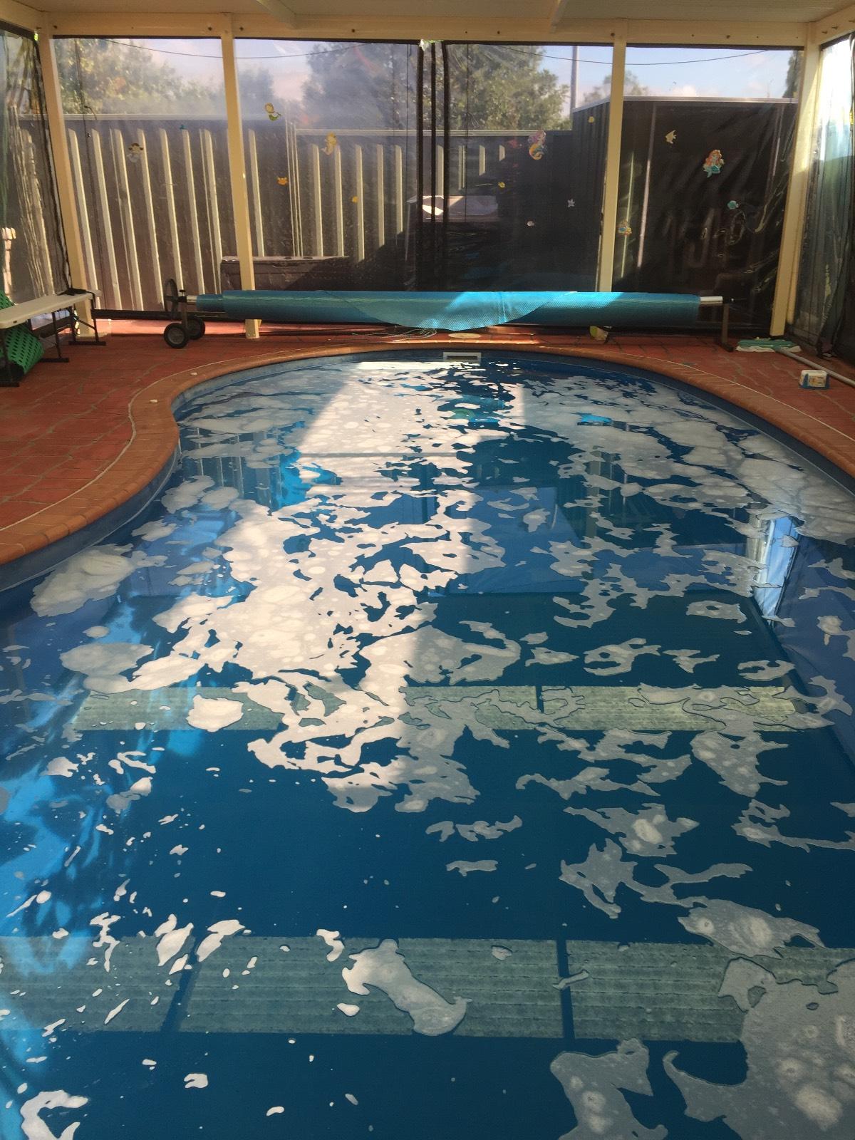Foam in pool