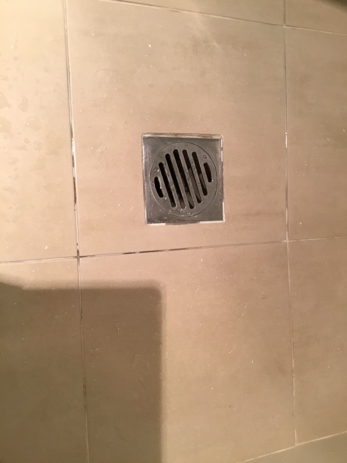 Shower grouting dissolving