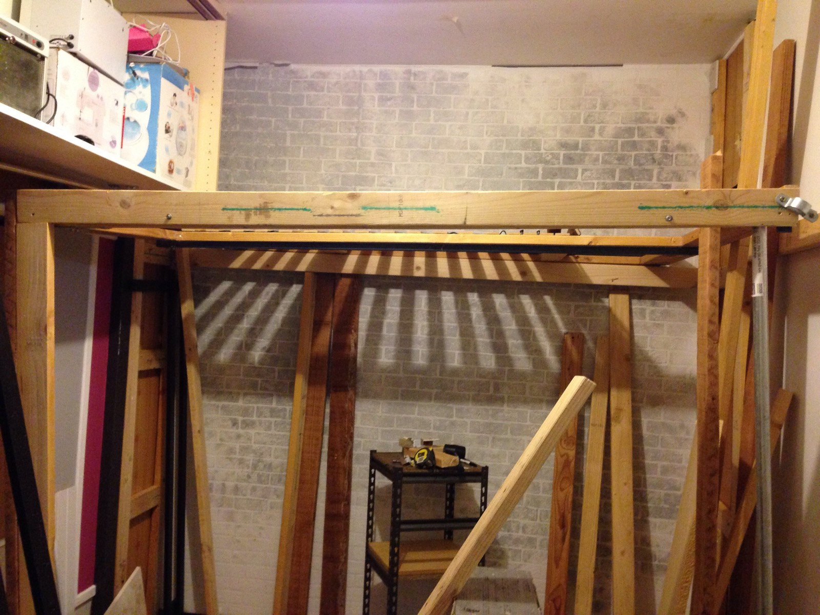 Picture of: View Topic Help Diy Queen Loft Bed Proving To Be Way Over My Head Home Renovation Building Forum