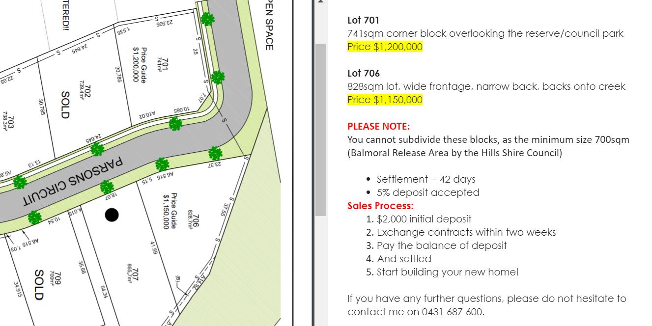 Land Registration? Kellyville - Balmoral Road Release