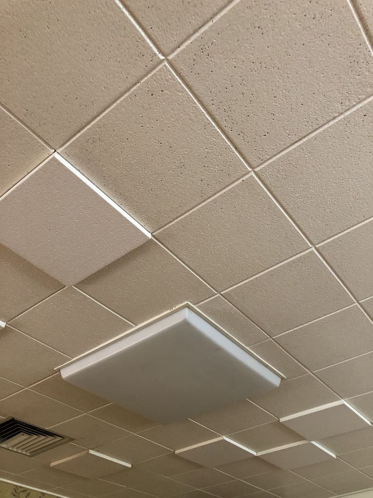 Improve ceiling aesthetics? Asbestos with acoustic tiles