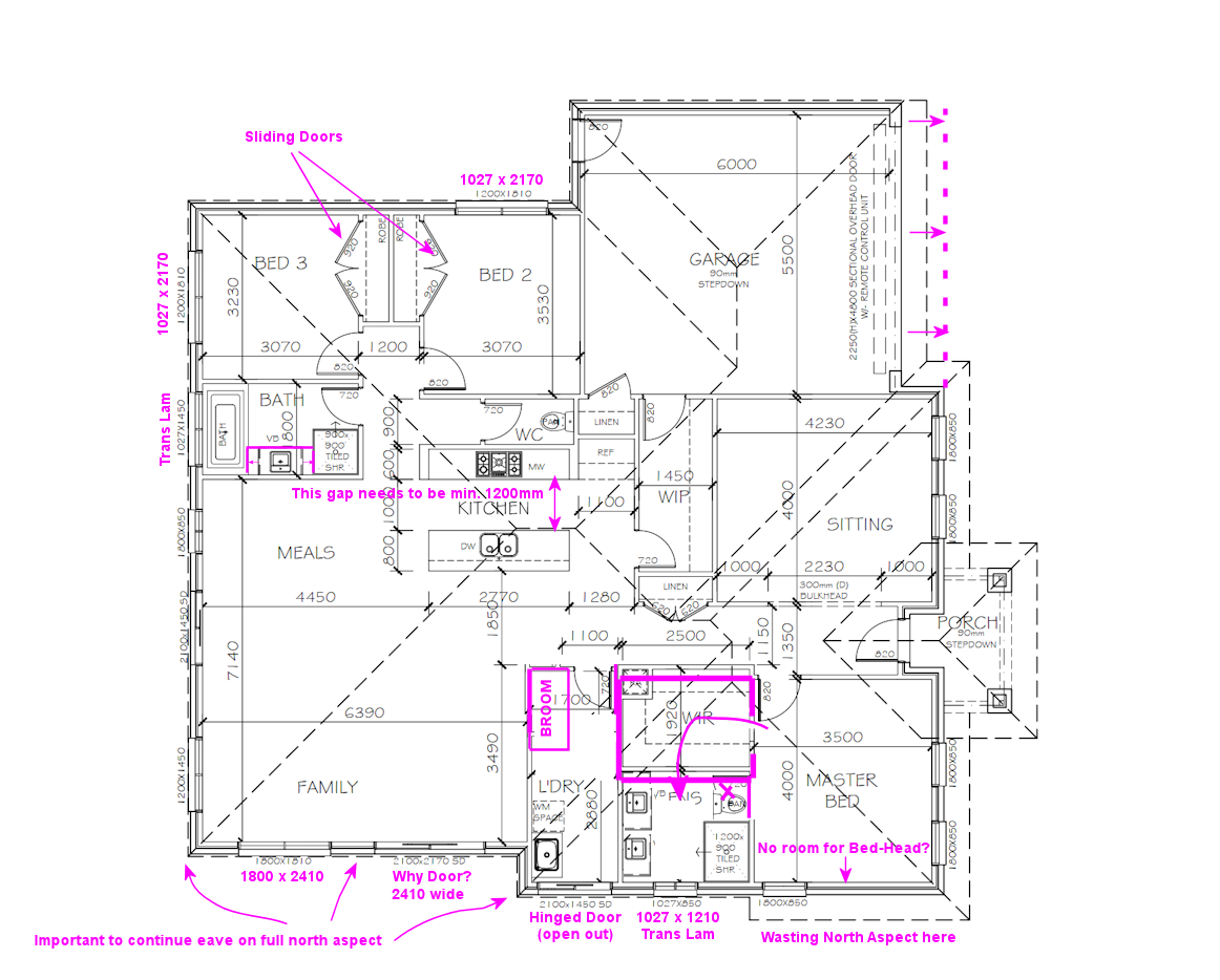 Floorplan dilemma on corner square block