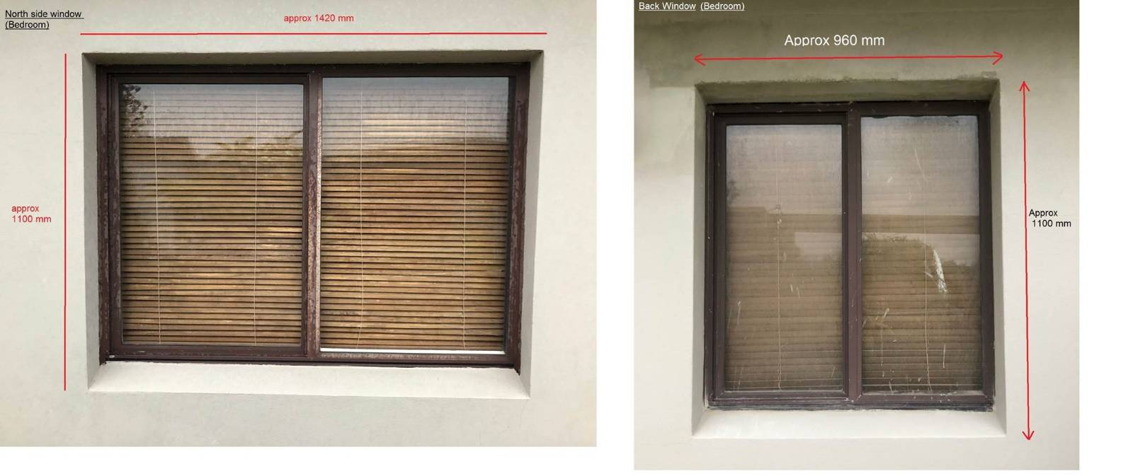 Remove & replace aluminium windows in double brick wall