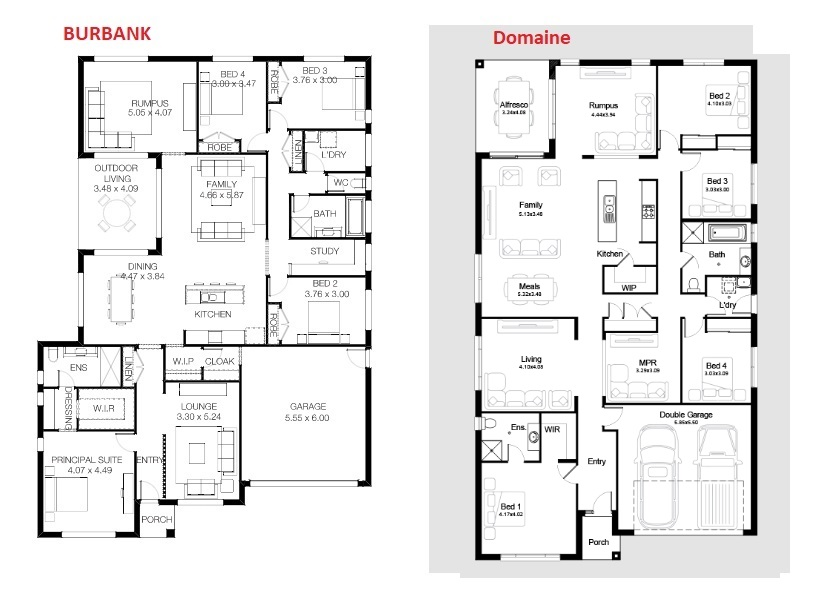 Which floor plan would you choose to build ?