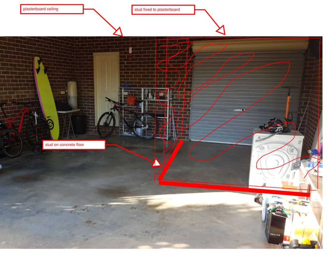 Privacy screen in garage (drawing attached)