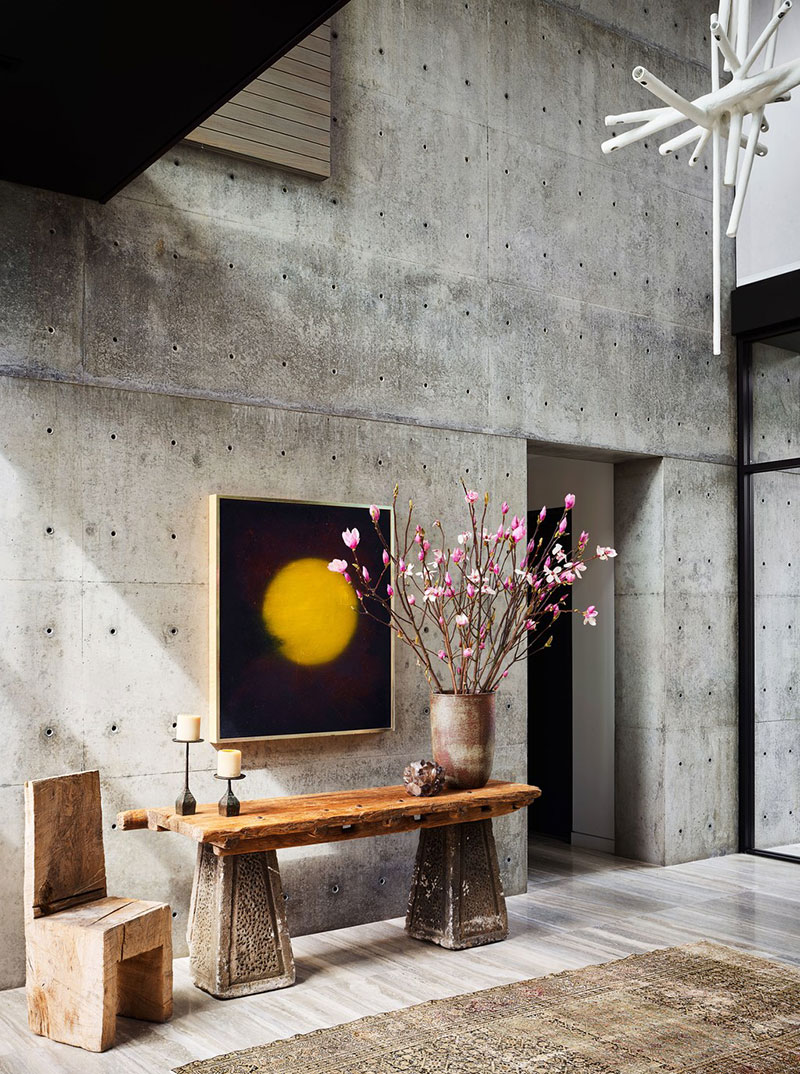 Concrete interior walls