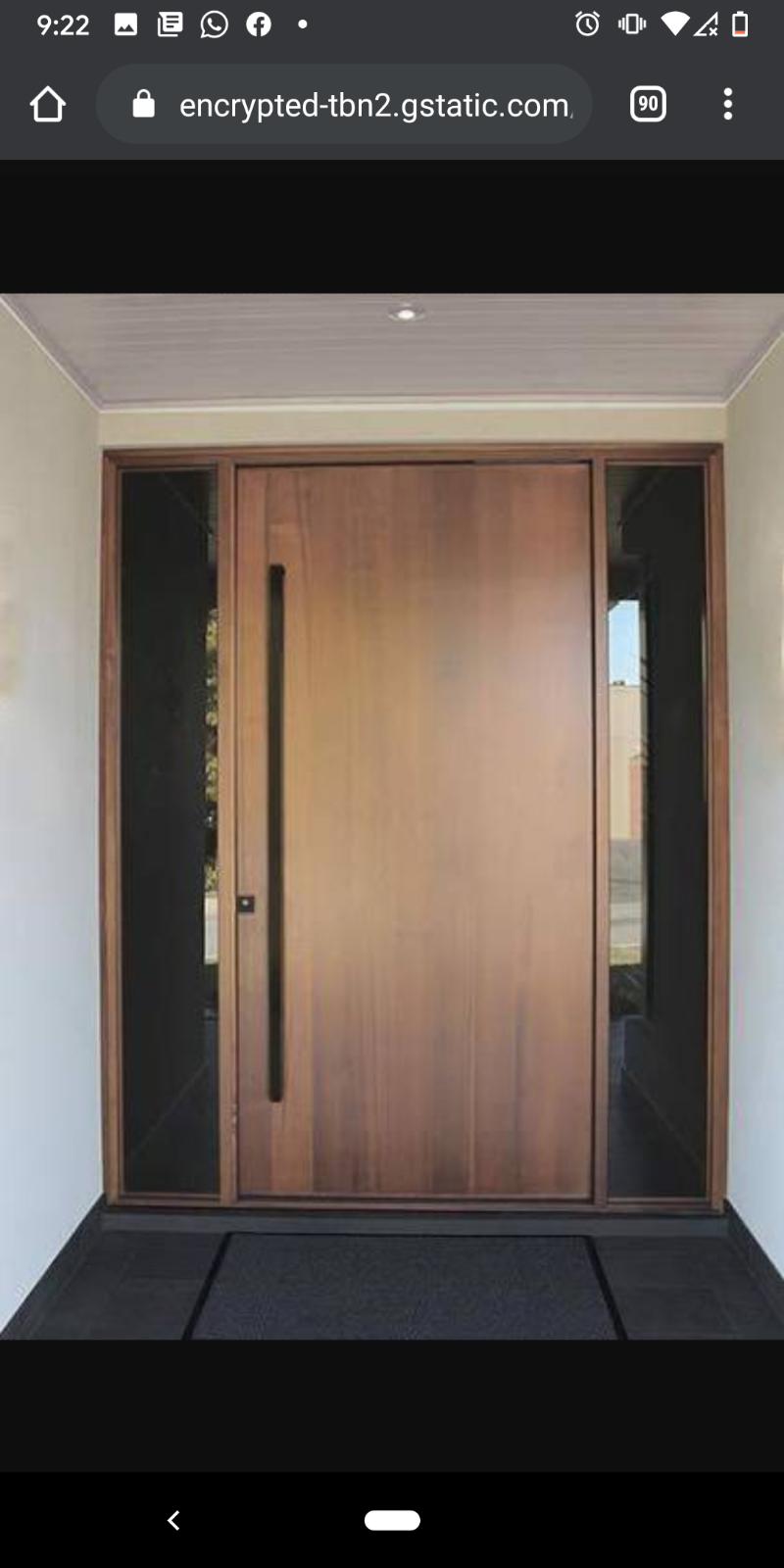 Front Door handle after handover
