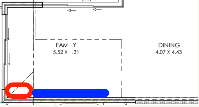 Fireplace and TV joinery in a family room with a void?