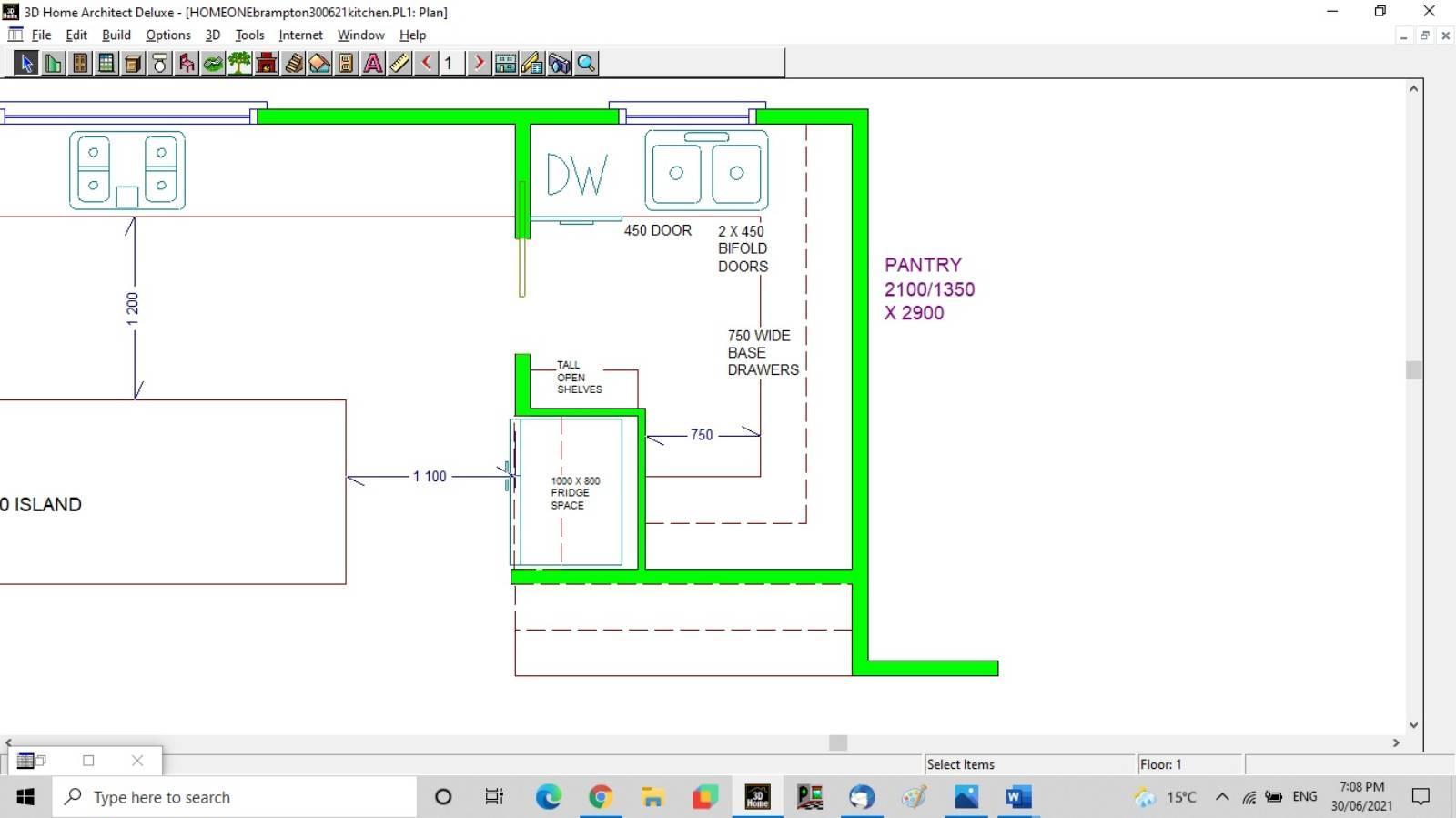 Seeking help with kitchen/butler pantry floorplan