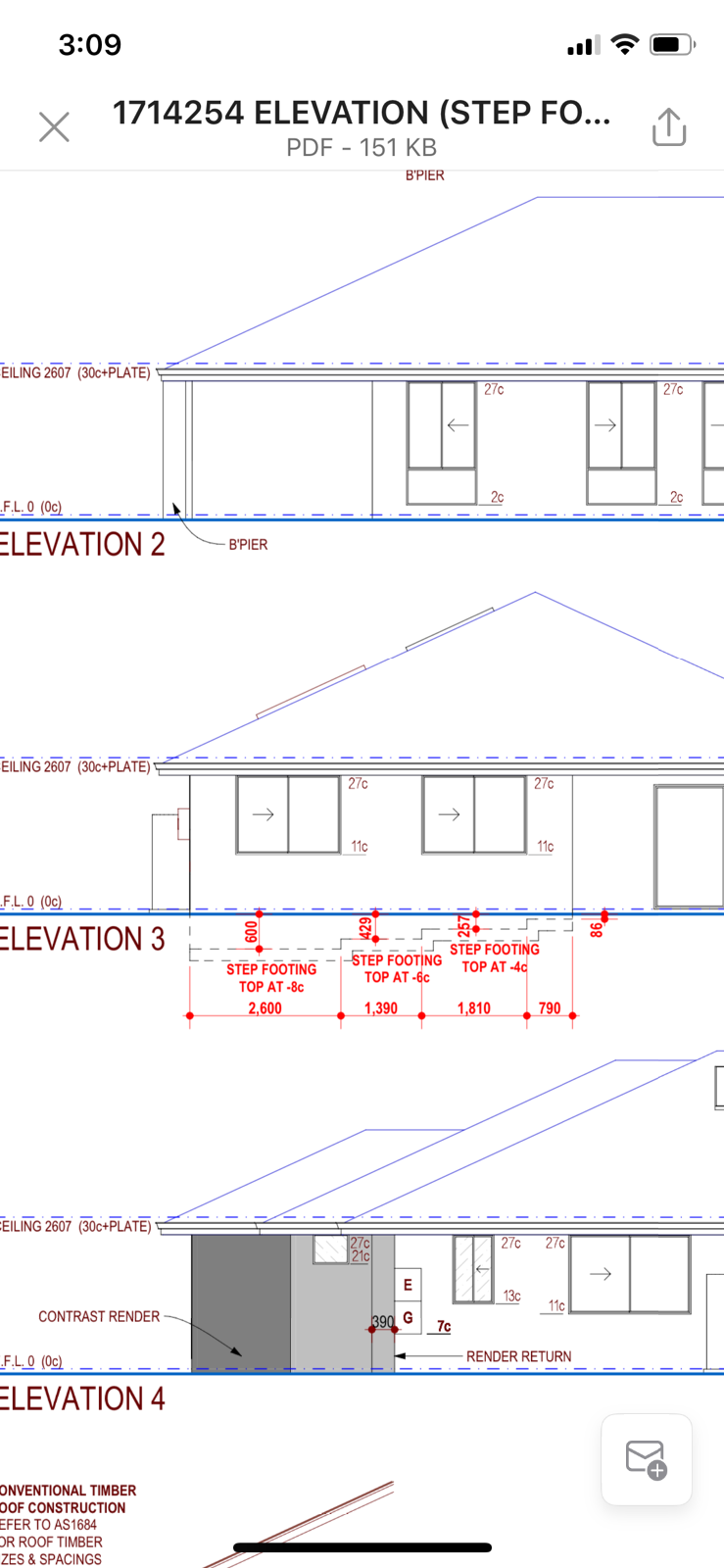 Footings/piling under house for pool not deep enough?????