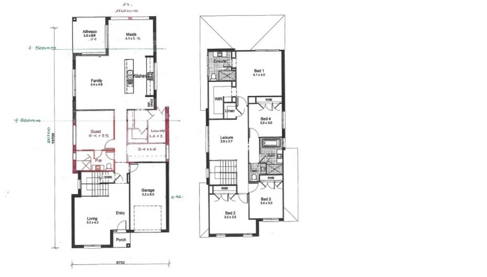 View: Clarendon-Leaton-floor plan