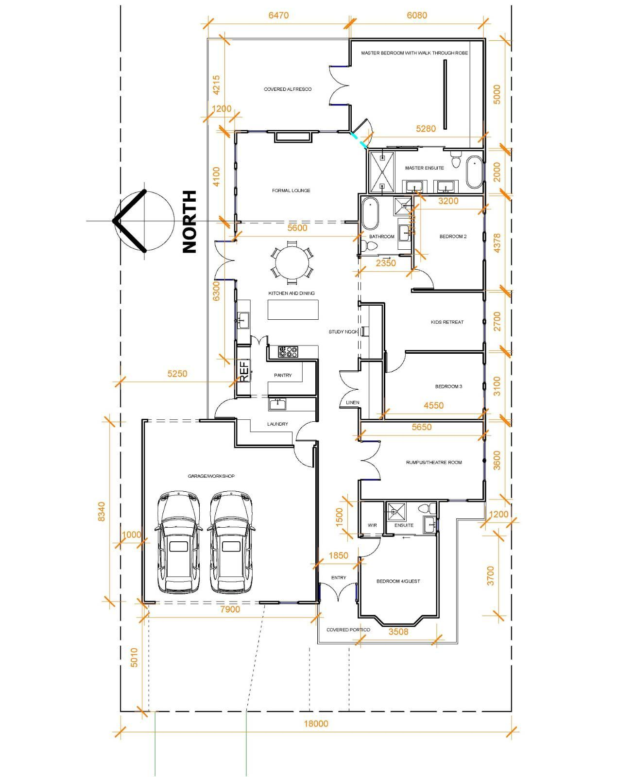 Please review our first custom floorplan